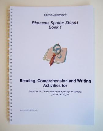 Phoneme Spotter Stories, Book 1. Reading, Comprehension and Writing Activities.