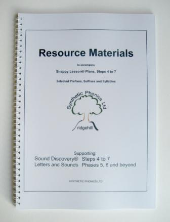 Resource Materials to accompany Snappy Lesson Plans at Steps 4-7.